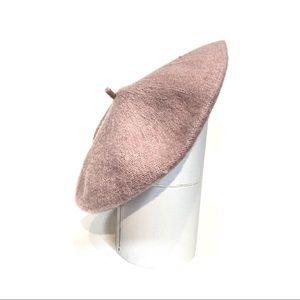 NWT Anthropologie Pastel Pink Wool Beret Hat